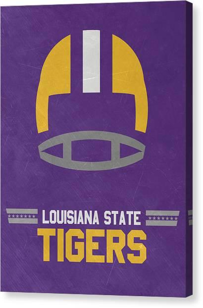 Lsu Canvas Print - Lsu Tigers Vintage Football Art by Joe Hamilton