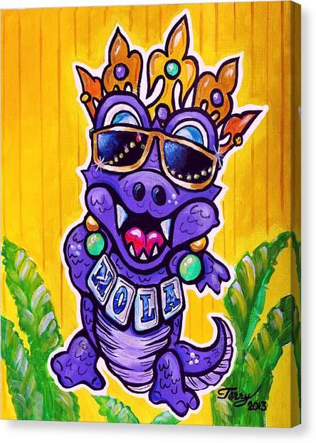 Lt Aka Nola Gator Canvas Print by Terry J Marks Sr