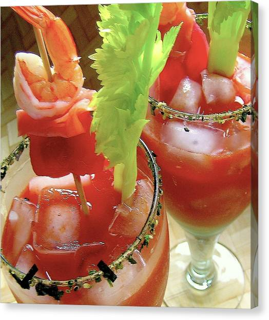 Bloody Mary Canvas Print - Luau Bloody Mary by James Temple