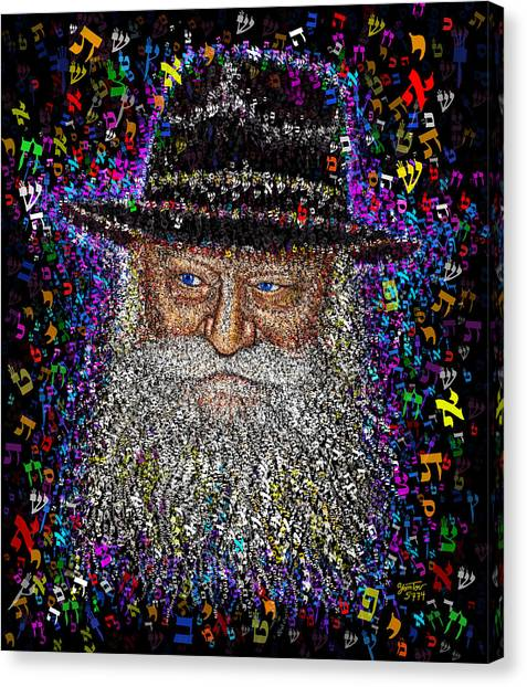 Lubavicher Rebbe Canvas Print