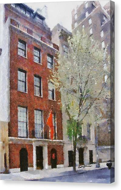 Syracuse University Canvas Print - Lubin House by Anthony Caruso