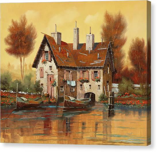 Country Scenes Canvas Print - Luce Gialla by Guido Borelli