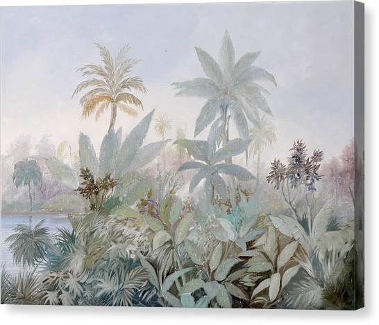 Foggy Canvas Print - Luce Nella Nebbia by Guido Borelli