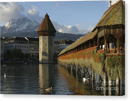 Lucerne At Sunup Canvas Print