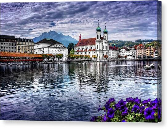 Baroque Art Canvas Print - Lucerne In Switzerland  by Carol Japp