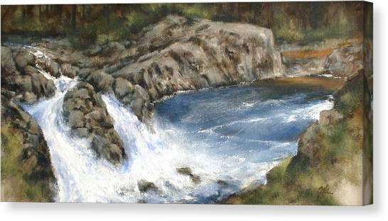 Canvas Print - Lucia Falls Summer by Jim Gola