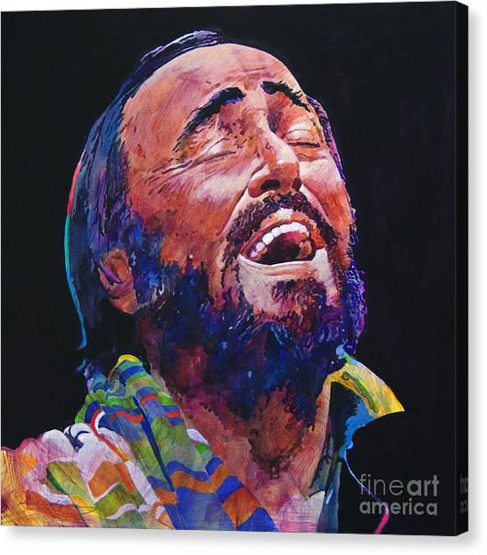 Luciano Pavrotti Canvas Print by David Lloyd Glover
