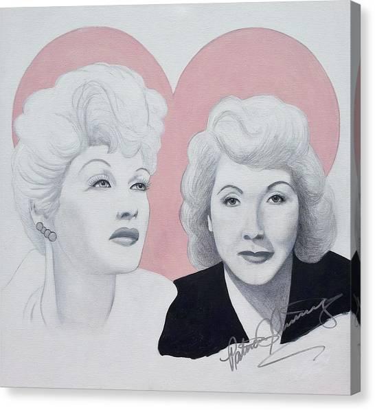 Lucille And Vivian Canvas Print