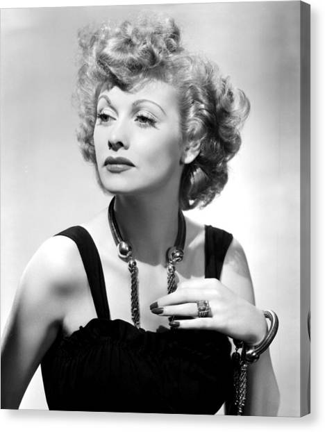 Gathered Canvas Print - Lucille Ball Publicity Shot, 1940s by Everett