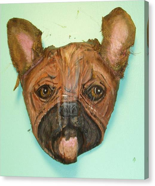 French Bull Dogs Canvas Print - Lucille's Spanky  by Ellen Burns