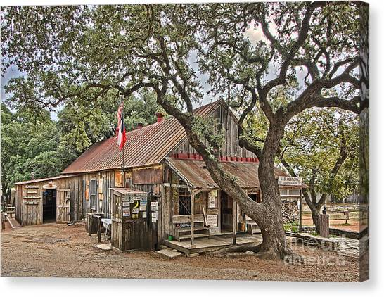 Luckenbach Post Office And General Store_1 Canvas Print