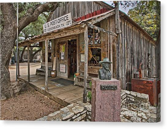 Luckenbach Post Office And General Store_2 Canvas Print