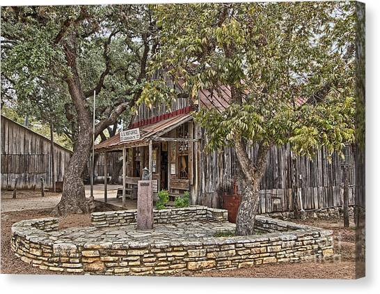 Luckenbach Post Office And General Store_3 Canvas Print