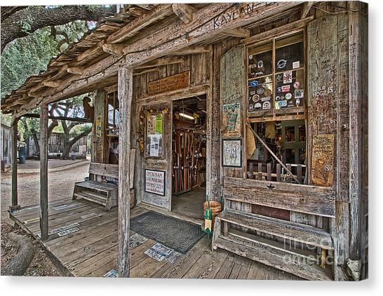 Luckenbach Post Office And General Store_4 Canvas Print