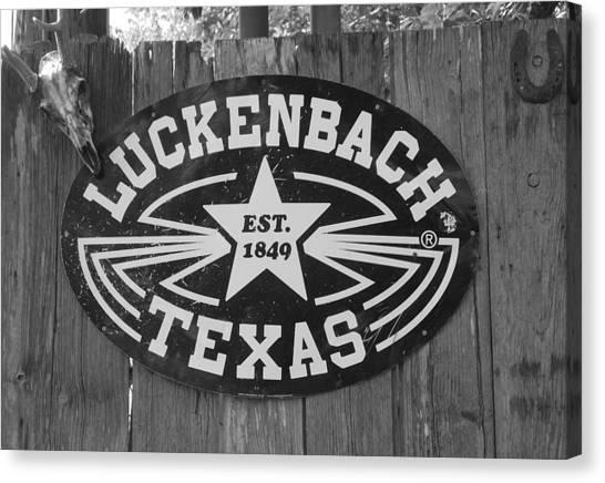 Luckenbach Texas Est. 1849 Sign Canvas Print