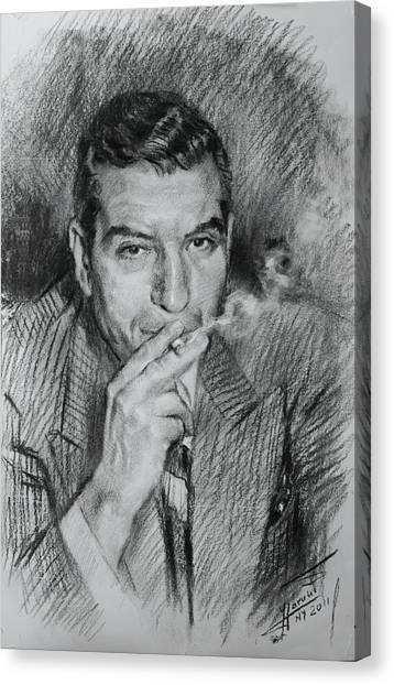 Lucky Canvas Print - Lucky Luciano by Ylli Haruni