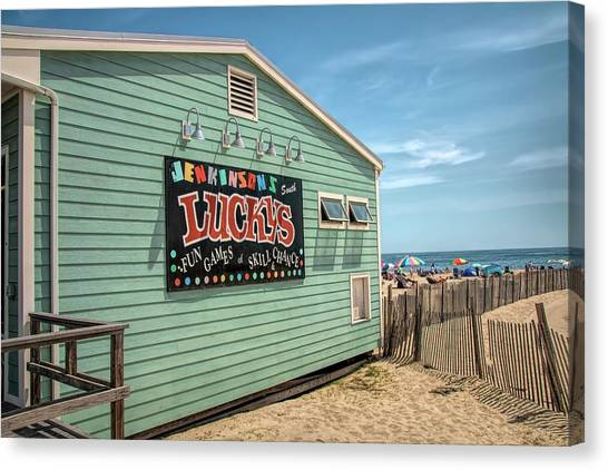 Canvas Print featuring the photograph Luckys At Jenkinsons South by Kristia Adams