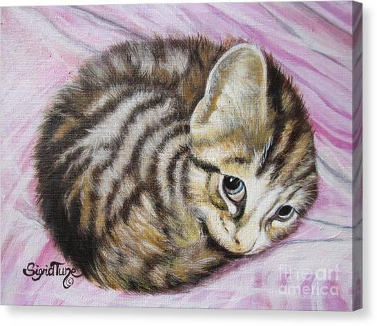 Flygende Lammet       Lucy Girl Canvas Print
