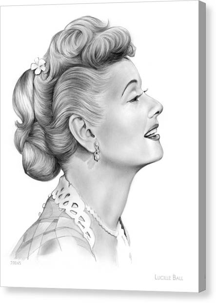 Balls Canvas Print - Lucy by Greg Joens