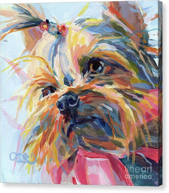 Yorkshire Terrier Canvas Print - Lucy In The Sky by Kimberly Santini
