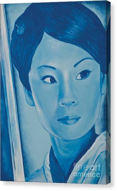 Lucy Liu Canvas Print - Lucy Liu by Derek Donnelly