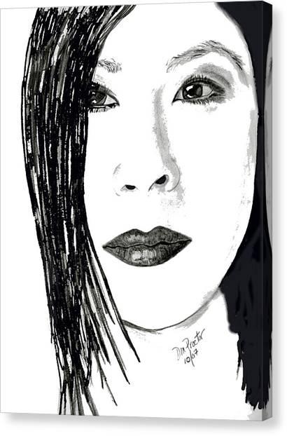 Lucy Liu Canvas Print - Lucy Liu by Donna Proctor