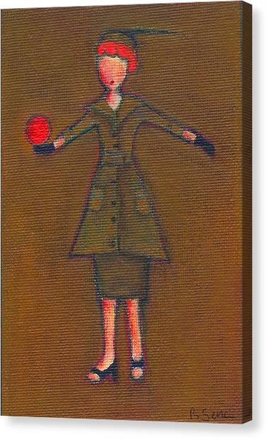 Lucy's Burning Red Ball Canvas Print