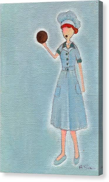 Lucy's Chocolate Covered Ball Canvas Print