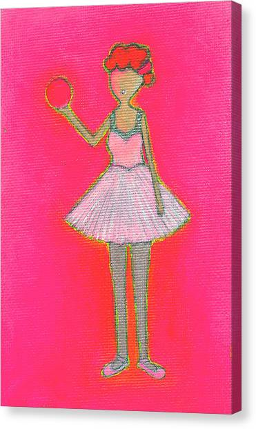 Lucy's Hot Pink Ball Canvas Print