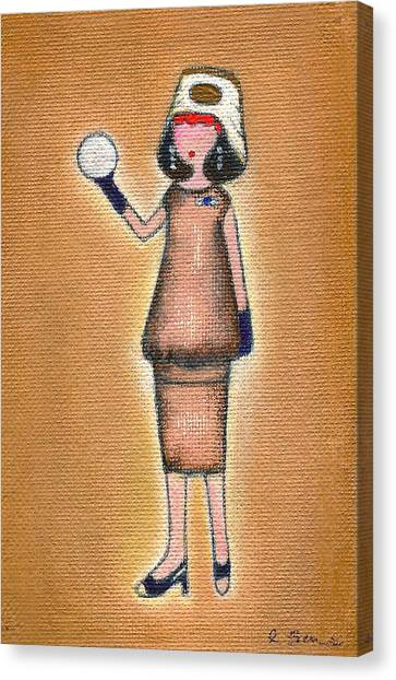 Lucy's Pearly White Ball Canvas Print