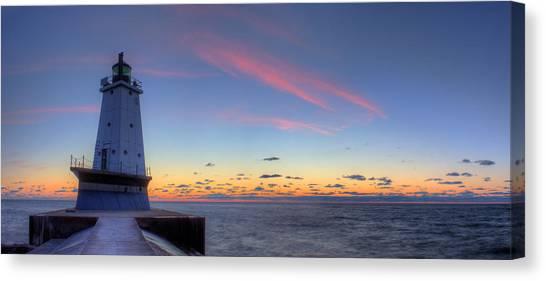 Northern Michigan Canvas Print - Ludington Michiga Lighthouse by Twenty Two North Photography