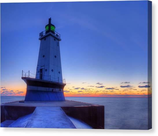 Northern Michigan Canvas Print - Ludington Michigan Lighthouse by Twenty Two North Photography
