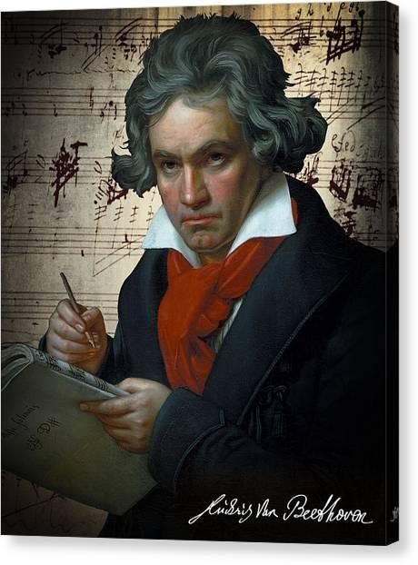 Clockwork Orange Canvas Print - Ludwig Van Beethoven 1820 by Daniel Hagerman