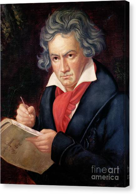 Compose Canvas Print - Ludwig Van Beethoven Composing His Missa Solemnis by Joseph Carl Stieler
