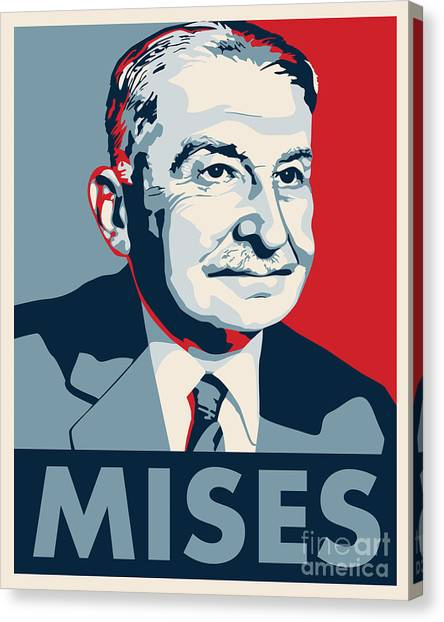 Libertarian Canvas Print - Ludwig Von Mises by John L