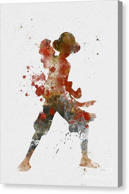 Pirate Canvas Print - Luffy by Rebecca Jenkins