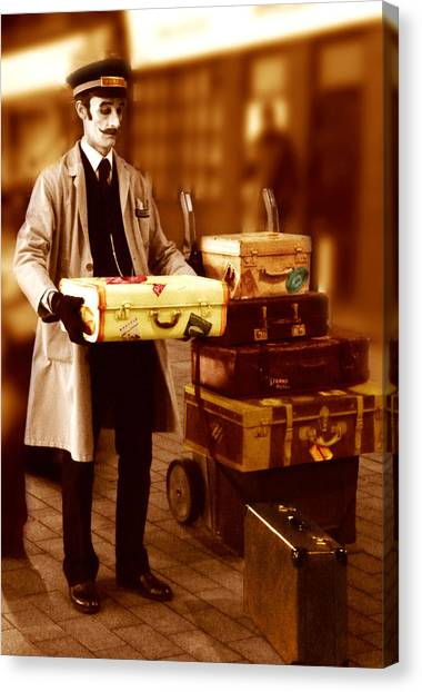 Luggage Please Canvas Print by Peter Jenkins