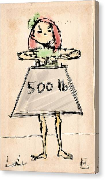 Redhead Canvas Print - Lulu The Strongest Girl In The World by H James Hoff