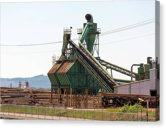 Canvas Print - Lumber Mill Sawdust Machinery by David Gn