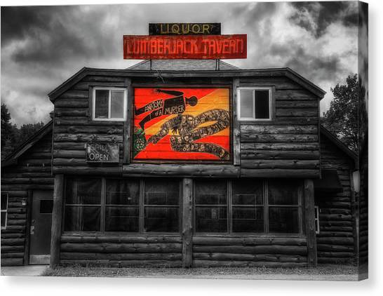 Anatomy Of A Murder Canvas Print - Lumberjack Tavern by Robert Storost
