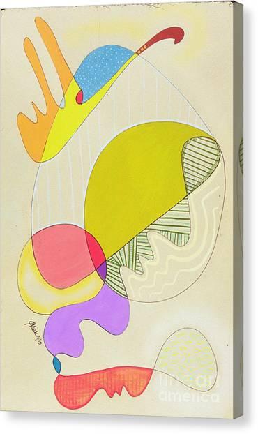Lummox Copyright Two Thousand Nine J.a.moscariello Canvas Print by Jaye  Alison