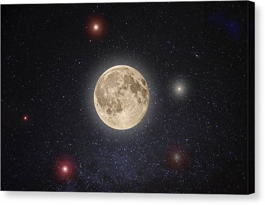 Moon Canvas Print - Luna Lux by Steve Gadomski