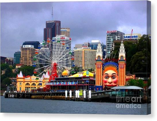 Luna Park Sydney Australia Canvas Print by Freda Sbordoni
