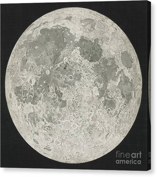 Celestial Sphere Canvas Print - Lunar Cartography by John Russell