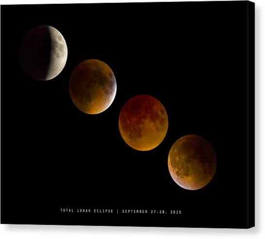 Lunar Eclipse 2015 Canvas Print