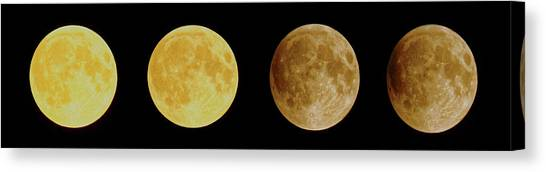 Lunar Eclipse Progression Canvas Print