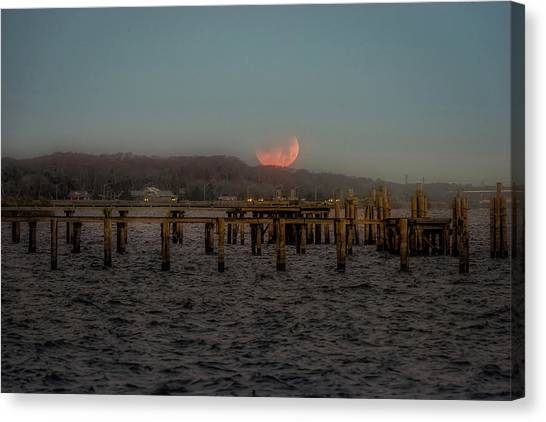 Lunar Eclispe  Canvas Print