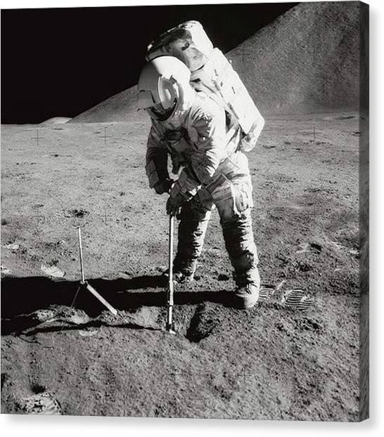 Astronauts Canvas Print - Lunar Module Pilot, Astronaut James B by Dominik Hofer