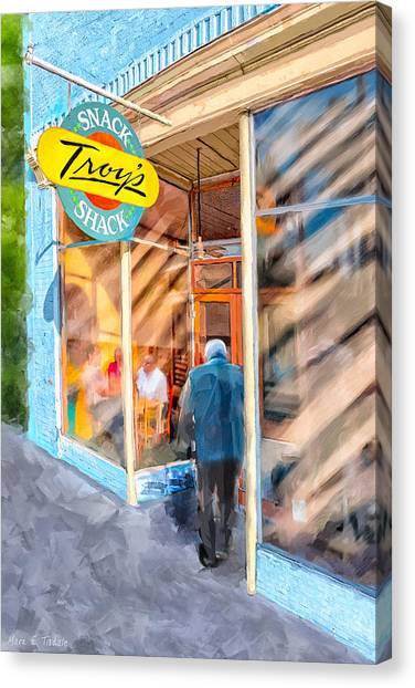 Lunch At Troy's Snack Shack Canvas Print