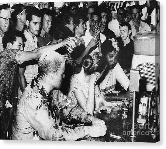 Ketchup Canvas Print - Lunch Counter Sit-in, 1963 by Granger